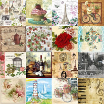 Servilleta Decorativa Europea P/ Decoupage Paq. 25 Piezas