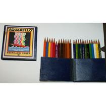 24 Lápices De Colores Eberhard Faber Aquarello Antigüos