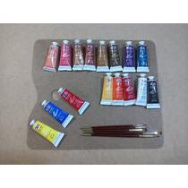 Kit, Set, Pintura Oleo, Paleta Pinceles; Oleos Retrato