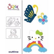 Scrapbook 2 Suajes Corte Hello Kitty Sizzix Papel Invitacion