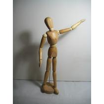 Maniquie Articulado, Para Dibujo, Arte, Pintura,30 Cm Madera