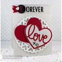 Scrapbook Suaje Corte Corazon Invitacion Tarjetas Papel Amor