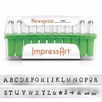 Sellos Metal Impress Art 33 Piezas Deluxe Mayúscula Alfabeto