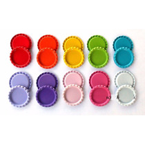 50 Corcholatas Decoradas Bottle Caps Circulares