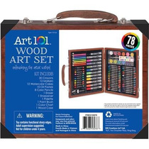 Art 101 Wood Art Set 78 Piece Set De Arte Pintura Y Dibujo