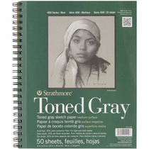 Strathmore Spiral Toned Sketch Book, 9 By 12-inch, 50 Sheets