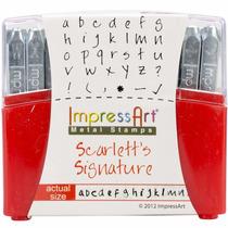Sellos Metal Impressart Lowercase Stamp Set Scarlett