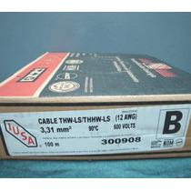 Caja De Cable Thw Calibre 12 Marca Iusa
