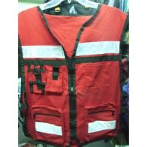 Chaleco Paramedico Rescate Ambulancia Cruz Roja Rescatista