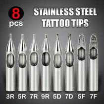 8 Tips Puntas De Acero Inoxidable Tattoo Tatuajes Tattoo