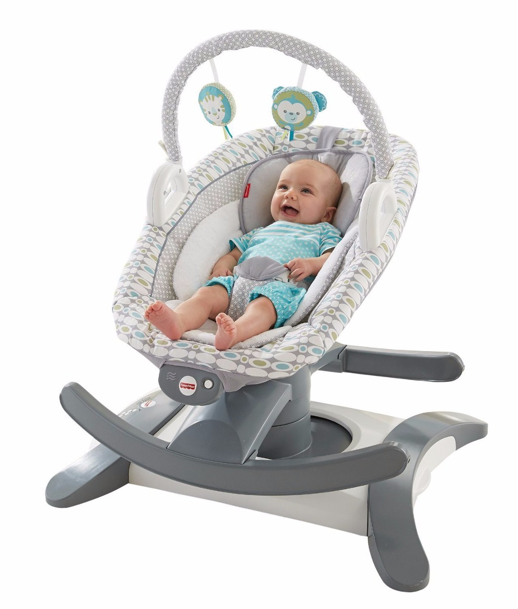 Mecedora bouncer bebe fisher price 4 in 1 rockn glide for Silla 4 en 1 fisher price