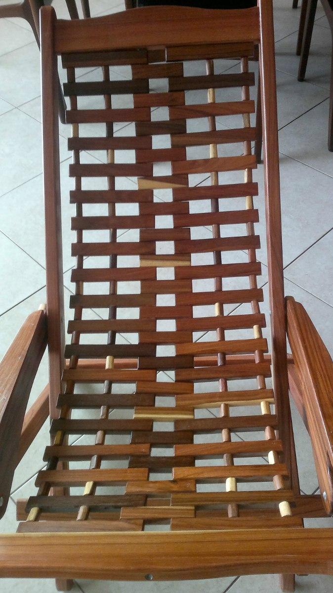 Mecedora de madera de granadillo 3 en mercadolibre for Mecedora de madera