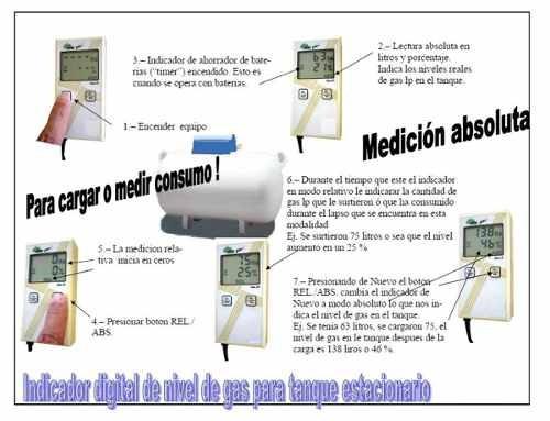 Medidor De Gas Digital Para Tanque Estacionario A Litros