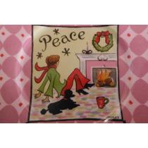Plato Christmas Peace By J Brinley Hogar Navidad Decoracion