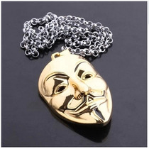 Cosplay * Anonimous * V For Vendetta Collar, Gratis Mascara