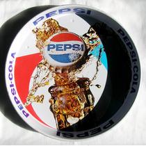 Antigua Charola De Lamina De Pepsi Cola Hecha En Mexico