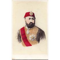 1860 Cdv Fotografía Sultan Abdulaziz Del Imperio Otomano