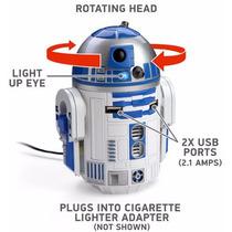 Star Wars R2-d2 Usb Cargador Para Carro Licencia Oficial