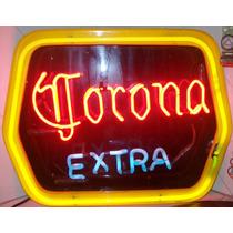 Corona Extra,etiqueta En Gas Neon Y Botellas Inflables Gigan