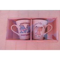 Set 2 Tazas Porcelana Mother