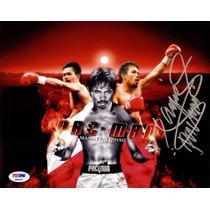 Autógrafo De Manny Pacman Pacquiao Foto 8x10 Box Psa Dna Coa