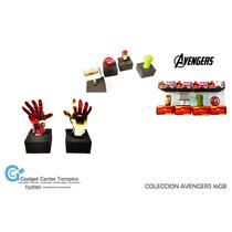 Memoria Usb Figura Avengers 16gb Ironman Thor Hulk Escudo
