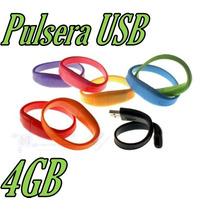 Pulsera Memoria Usb 4gb Llave Memoria Usb Estuche Gratis