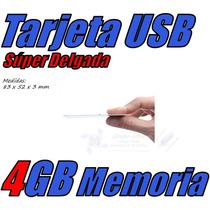 Tarjeta Memoria Slim Data Usb 4gb By Kempler Straus Estuche