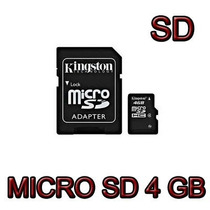Memoria Micro Sd Sdhc 4 Gb Kingston Clase 4 100% Original