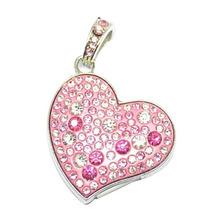 Memoria Usb 4 Gb Corazón Cristales Austriacos Dije Regalo