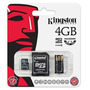 Kingston 4gb Mobility Kit 3 En1. Microsd, Sd, Lector Usb
