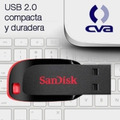 Memoria Sandisk 8gb Usb 2.0 Cruzer Blade Z50 Negro C/rojo Sd