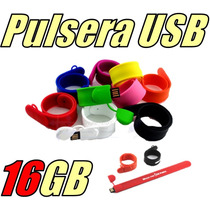Pulsera Memoria Usb 16gb Slap On Llave Usb Colores Silicon