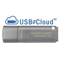 Kingston Datatravel Locker+ G3 32gb,usb3.0,tapa,plata,metal