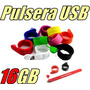 Pulsera De Silicón Usb Memoria De 16gb Modelo Slap On