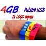 Pulsera Memoria Usb 4gb Llave Usb Tu Logo Estuche Gratis