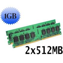 2 Memorias Ram Ddr2 De 512mb = 1gb. Pc2-4200 Bus 533mhz