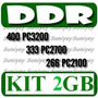 Kit 2 Memorias Ddr 1gb Ppc: Pc2700 = Ddr333, Pc3200 = Ddr400