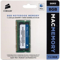 Memoria Para Macbook Soddr3 8gb 1333mhz, Certificada Por Mac