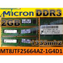 Memoria Ram Micron Ddr3 1333mhz 2gb 1rx8 Pc3-10600u-9-10-a0
