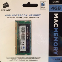 Memoria Para Macbook Soddr3 4gb 1066mhz Pc3-8500