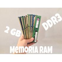 Remate De Memoria Ram Ddr3 De 2 Gb Para Pc Varias Marcas