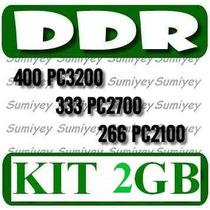 Kit De 2 Memorias Ddr De 1gb P/ Pc: Pc2100, Pc2700, Pc3200