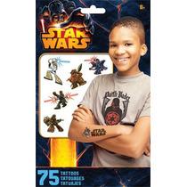 Paquete De 75 Tatuajes Temporales De Star Wars Lucasfilm