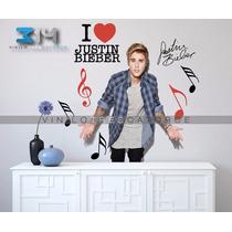 Vinilos Decorativos Justin Bieber-10 Calcomanías Artistas.