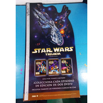 Promocional Star Wars Trilogía De Los Dvd´s