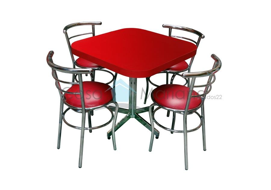 Mesa c 4 sillas para restaurante bar cafeteria antro - Sillas para bares ...