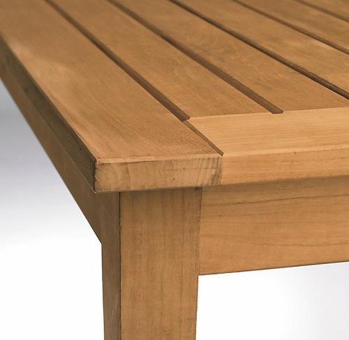 Mesa centro sala terraza o exterior madera teka 8 350 - Mesa madera exterior ...