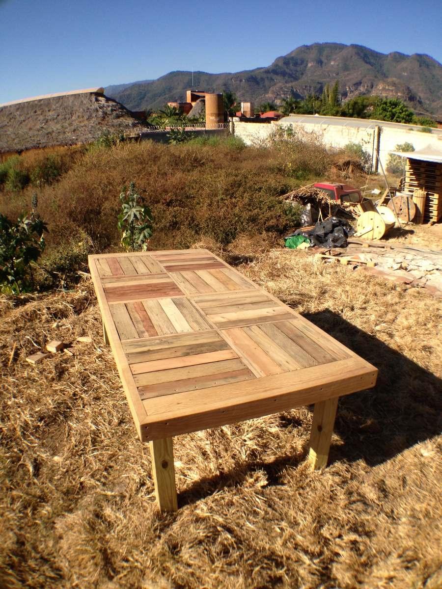 Mesa comedor familiar jumbo de madera reciclada 4 300 for Precios de mesas de madera para comedor