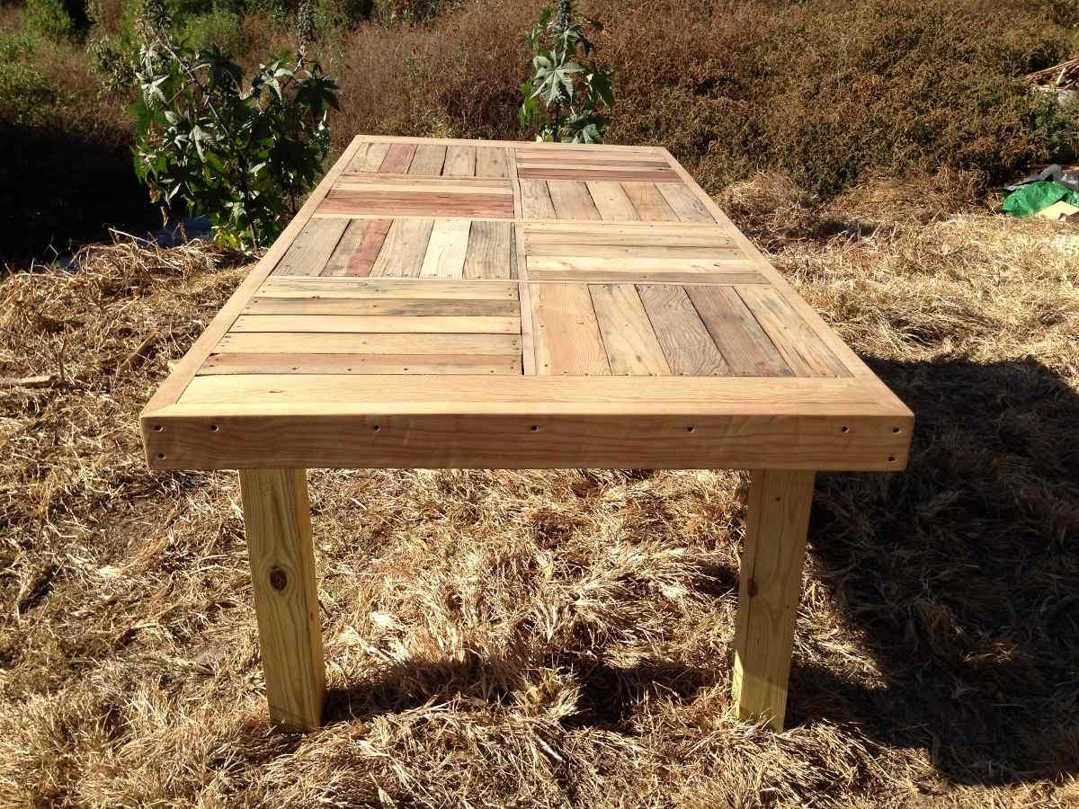 Mesa comedor familiar jumbo de madera reciclada 4 300 - Mesas madera reciclada ...